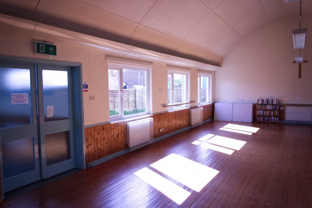 Community Hall, before the blinds