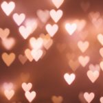 Hearts bokeh effect