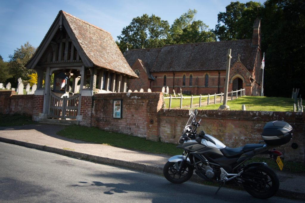 St Michael's, Emery Down - and the motorbike that took Paul from church to church for the day