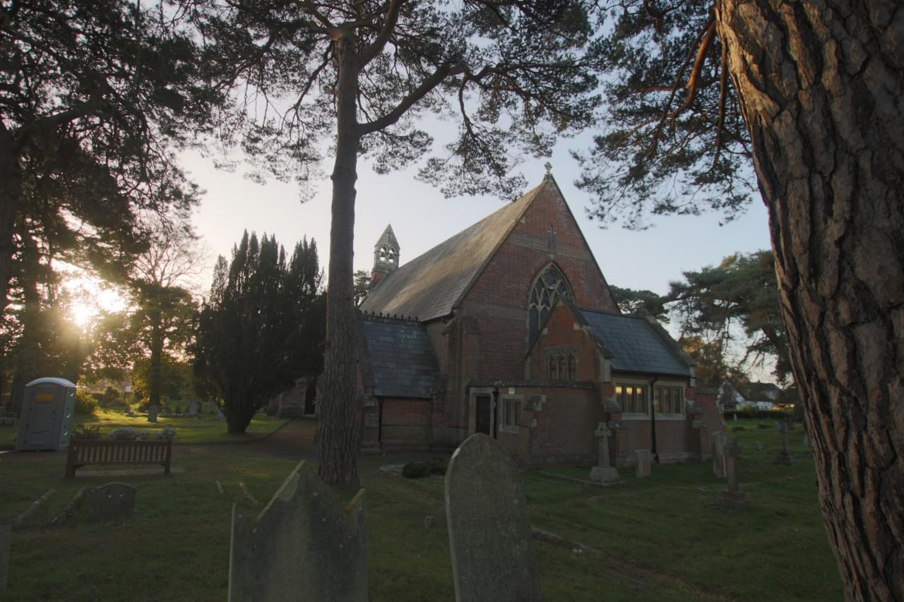 Church in early morning sunlight