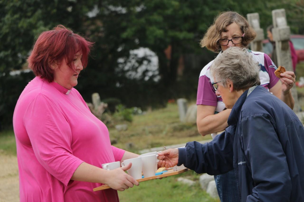 Rachel Noël - serving the parish of St Mark's in many ways (including tea)