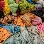 Coloured yarn and wool