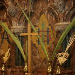 Palm leaves at our Palm Sunday service