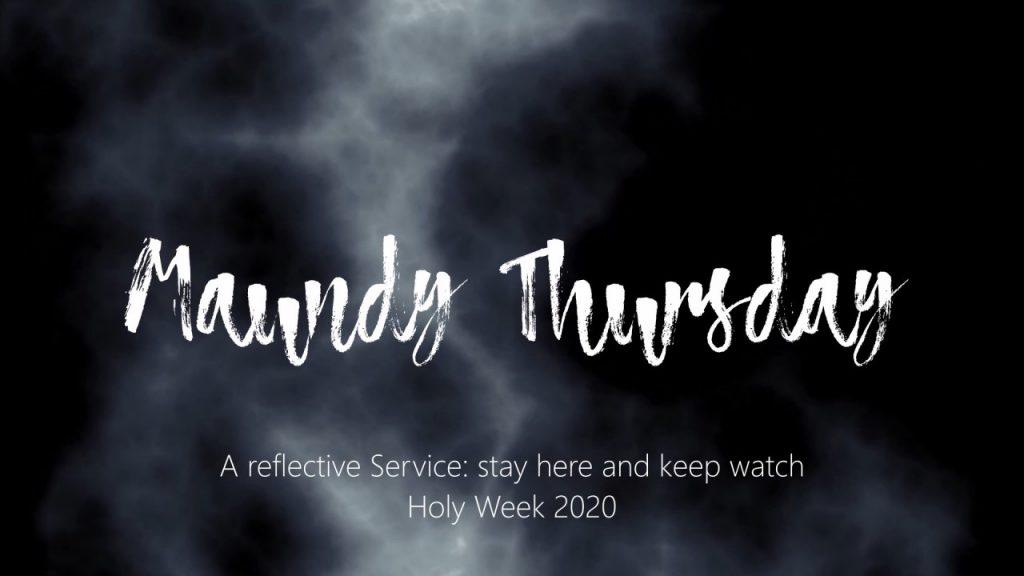 Maundy Thursday banner, 2020