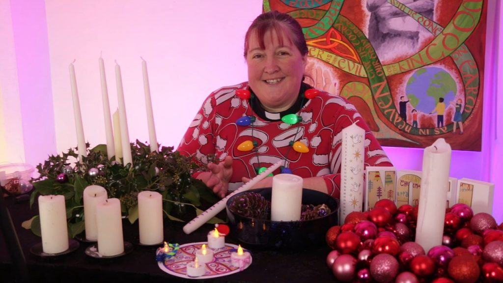 Rachel shows how to make an Advent wreath