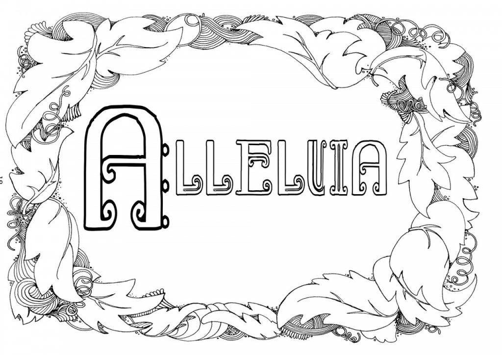 Alleliua colouring in sheet